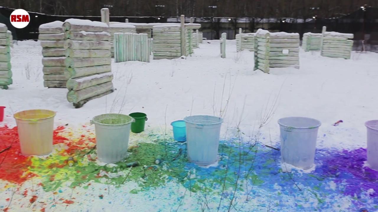 Опрокидываем краску в жидкий азот    Dump the paint into liquid nitrogen