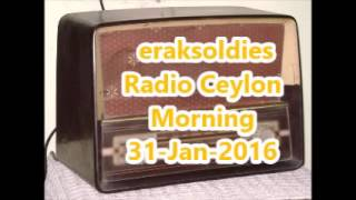 Radio Ceylon 31-01-2016~Sunday Morning~01 Film Sangeet