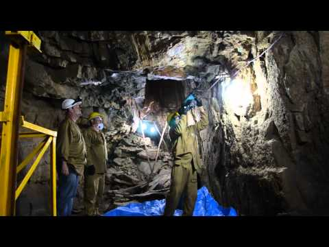 ADNT - US - Taking channel sample in the mine (Ardent Mines Ltd)