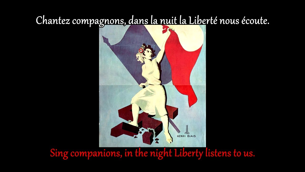FRENCH LESSON - learn french with music ( FRENCH SONG  lyrics + translation )Le chant des partisans