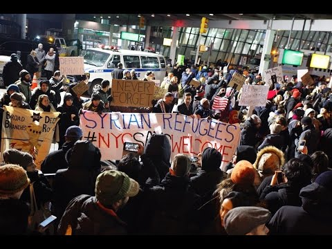 JFK Airport NYC Protest