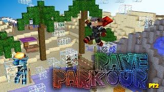 """Minecraft Parkour """"Rave Parkour"""" Pt2 - Beach of Pain (Minecraft Parkour Map)"""