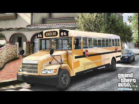 GTA 5 REAL LIFE MOD #602 - THE WORST SCHOOL BUS DRIVER !!! (GTA 5 REAL LIFE MODS)