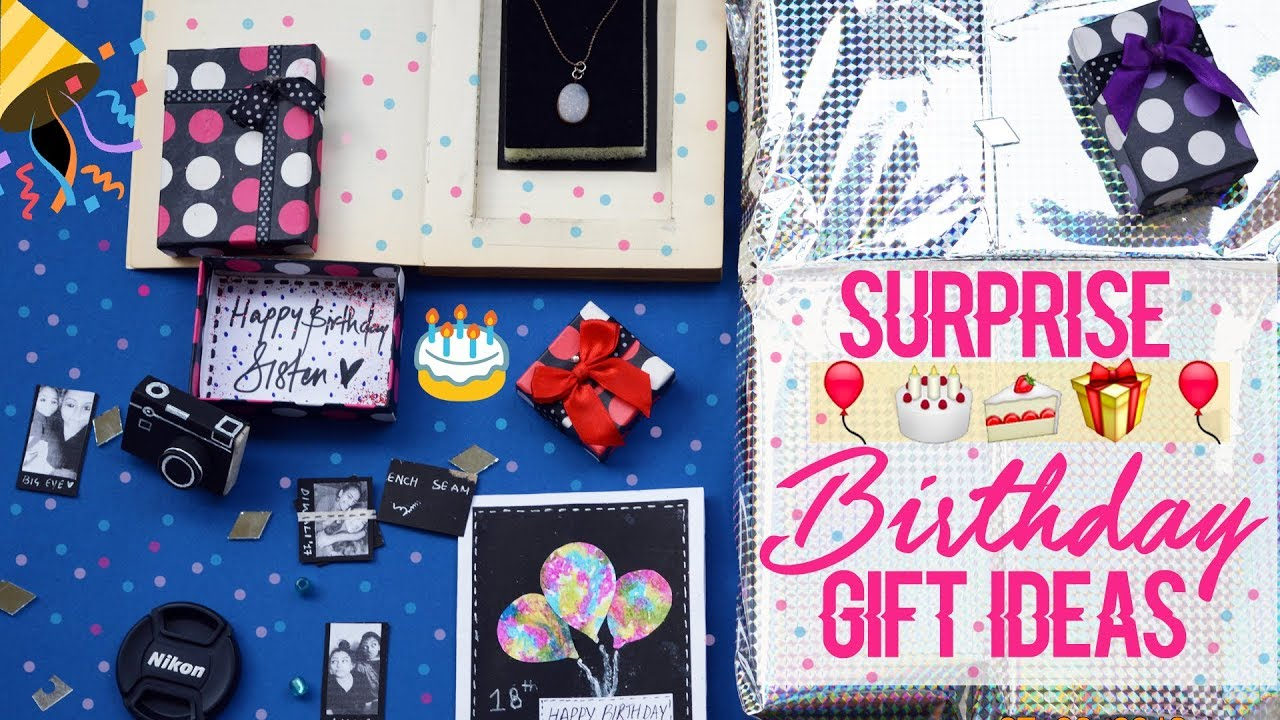 Surprise BIRTHDAY GIFT Ideas For Family Bf Gf Friends