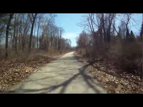 East Coast Greenway Virtual Cycling (Topsfield and Danvers MA). April 2013.