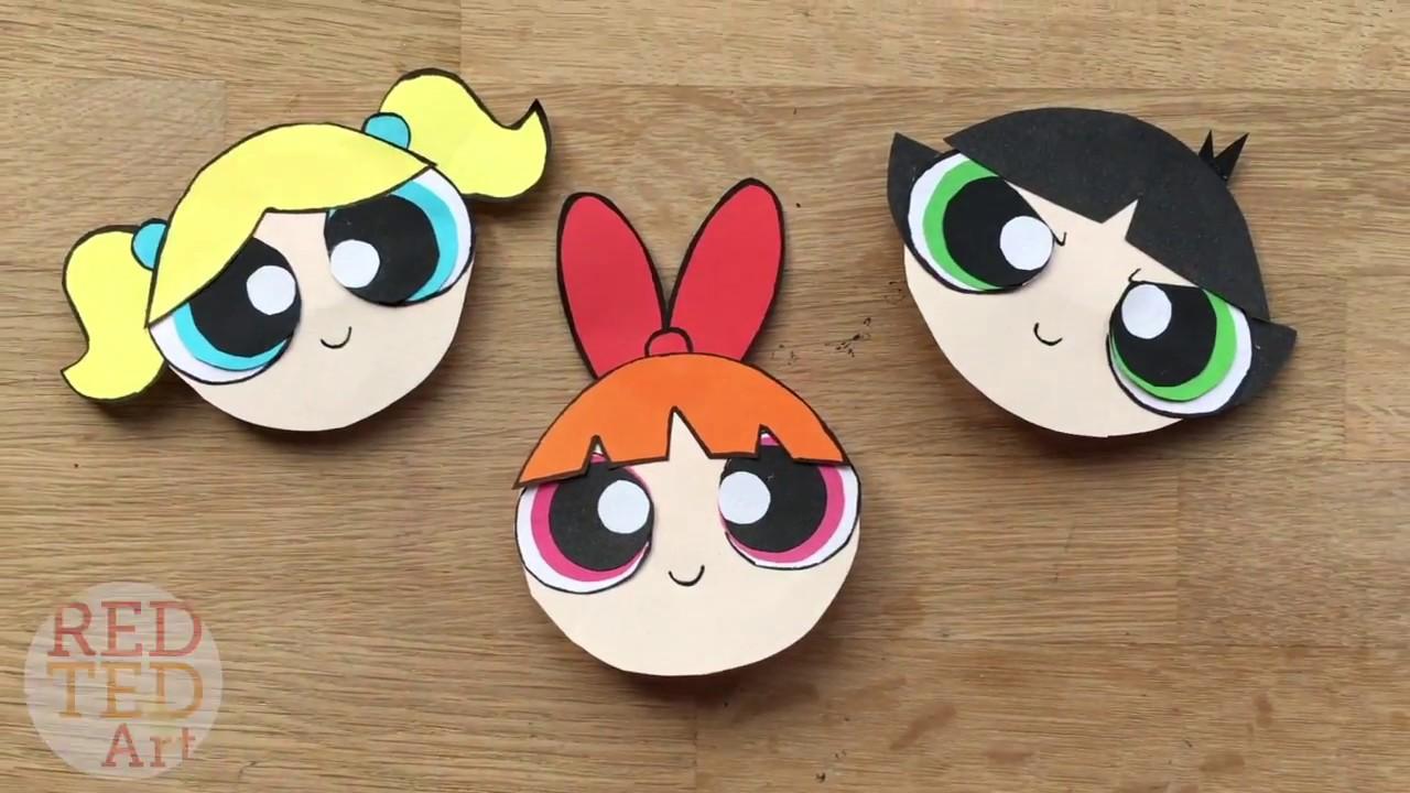 The Powerpuff Girls Bookmark DIY