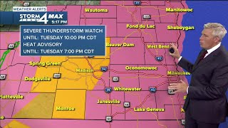 Severe Thunderstorm Watch issued for all of SE Wisconsin until 10 p.m.