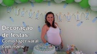 Decoração de Festas: Painel para chá de bebê - Varal com nome