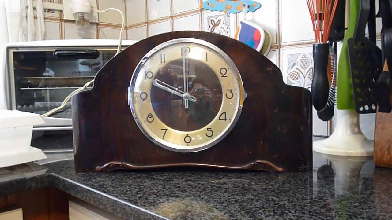 Antiguo reloj de mesa aleman carrillon completo youtube - Relojes antiguos de mesa ...