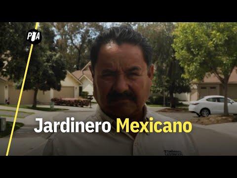 Un jardinero mexicano en un barrio pro Trump de San Diego
