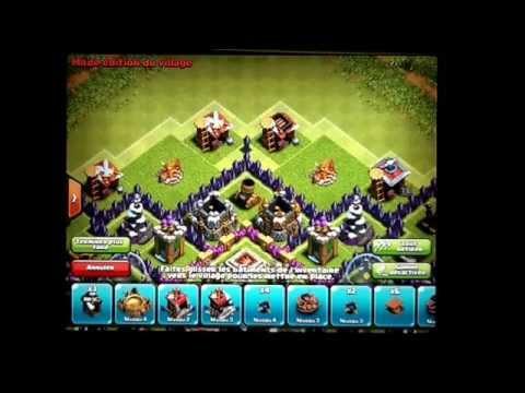 Village hybride hdv 9 (sans arc-x et sans reine des archers) Clash Of Clans