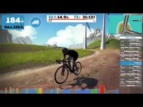Cycling: Zwift flat route