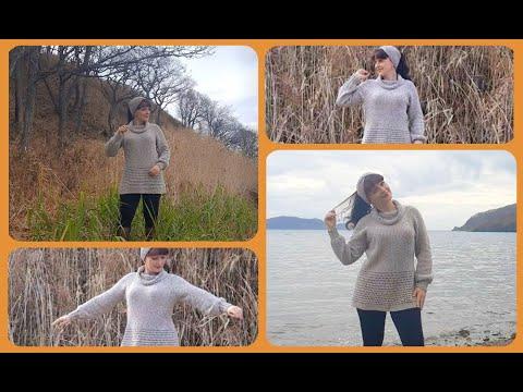 Туники спицами на зиму для женщин