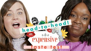 Shrill's' Aidy Bryant & Lolly Adefope Chug Expensive Champagne at 10 AM | Expensive Taste Test