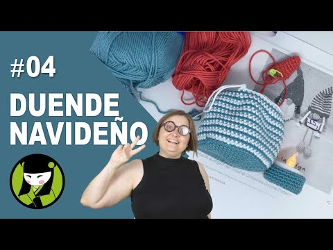 duende navideño amigurumi 4 sujetavelas a crochet