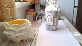 Урок №3. Часть I. Как покрасить поделки из солёного теста.