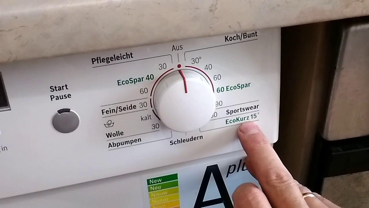 Как пользоваться стиральной машинкой bosch maxx 6 ecospar