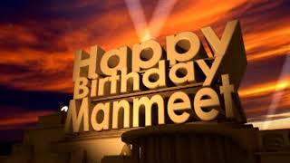 Happy Birthday Manmeet