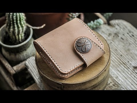 Making A Leather Snap Wallet (With Pattern!)