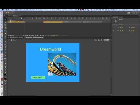 Flash  CC Adventure World Interactive Tutorial