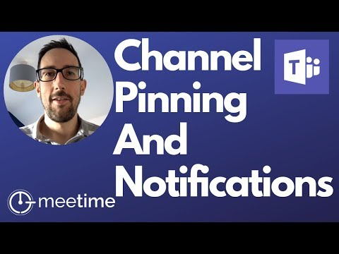How To Pin Channels - Microsoft Teams Tutorial 2019 thumbnail