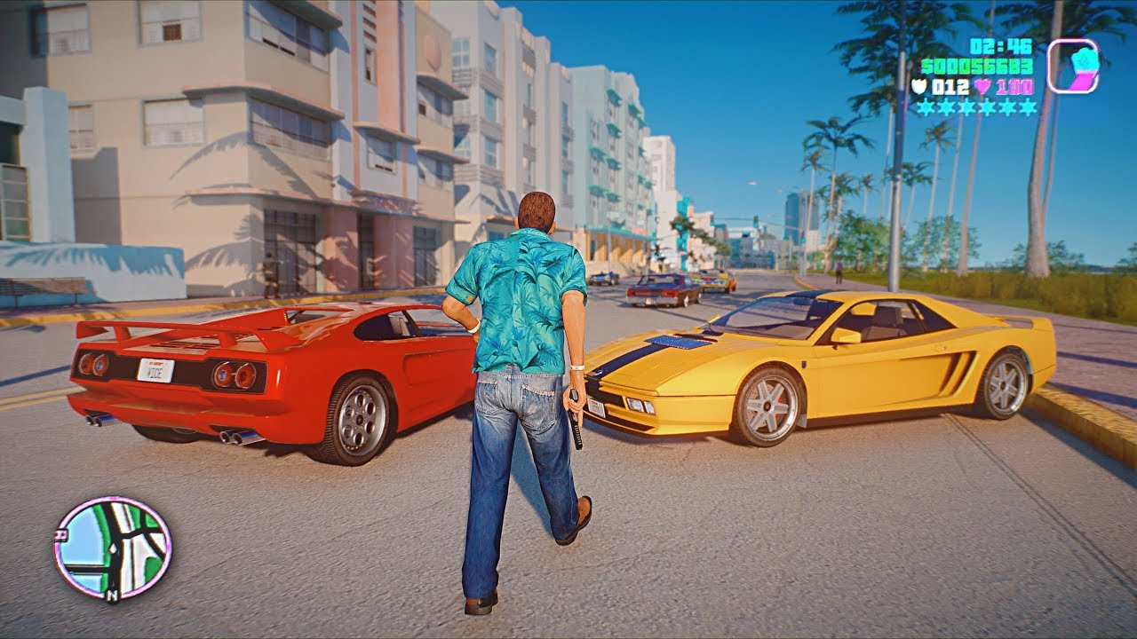 Gta Vice City 2020 Remastered Gameplay 4k 60fps Next Gen Ray Tracing Graphics Gta 5 Pc Mod Youtube