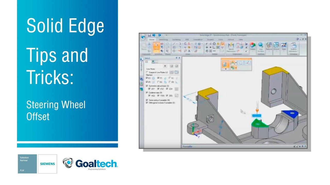 medium resolution of solid edge tips tricks utilizar shift click steering wheel offset