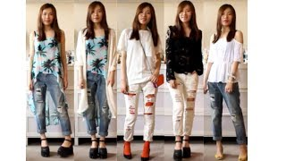 How I style : distressed boyfriend jeans Thumbnail