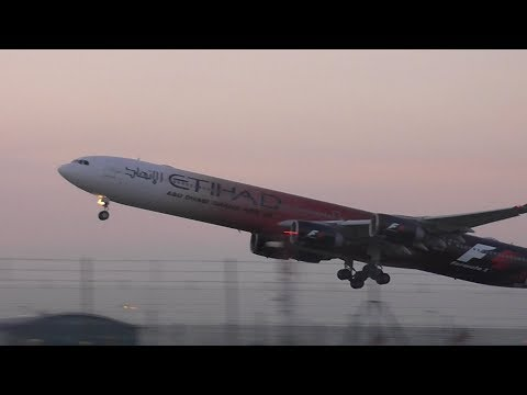 Plane Spotting Evening Departures at London Heathrow Airport - 24/05/17