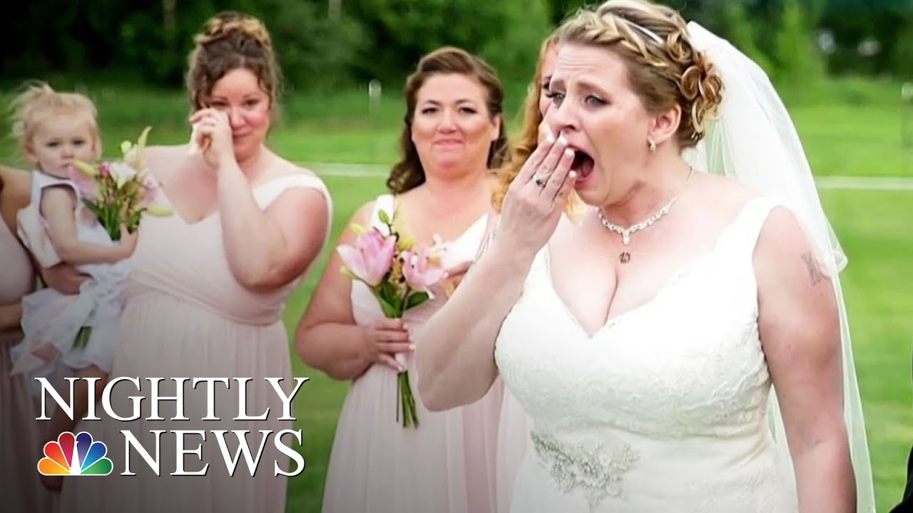 Bride surprised at wedding by man who received her late sons bride surprised at wedding by man who received her late sons heart nbc nightly news ombrellifo Images