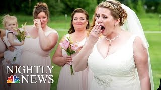 Bride Surprised At Wedding By Man Who Received Her Late Son's Heart   NBC Nightly News