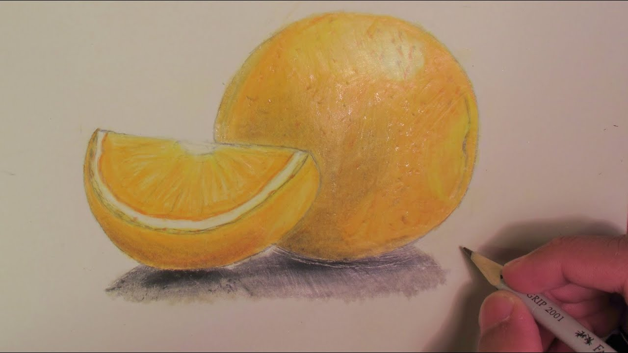 realistic orange speed drawing youtube