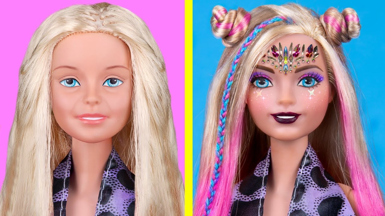 12 Diy Maquillajes En Miniatura 100 Real Locos Trucos Para Tu Barbie Youtube