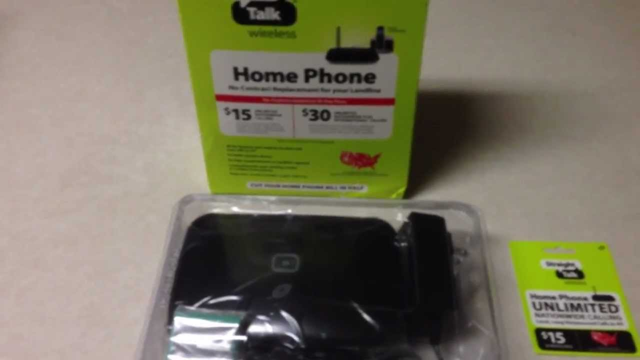 Verizon Home Phone Plan New Straight Talk Wireless Home Phone Service  Youtube