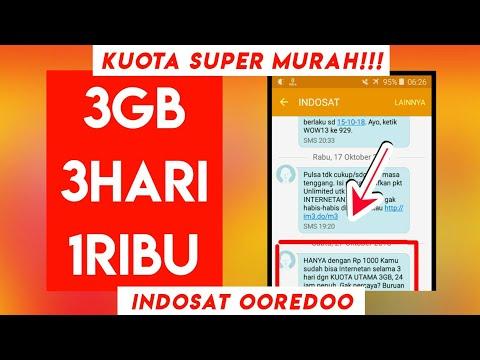 KUOTA SUPER MURAH!!! 3GB 3HARI 1RIBU INDOSAT OOREDOO