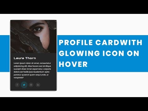 Profile Card with glowing Icon hover Effect   CSS3 Animation Snippets