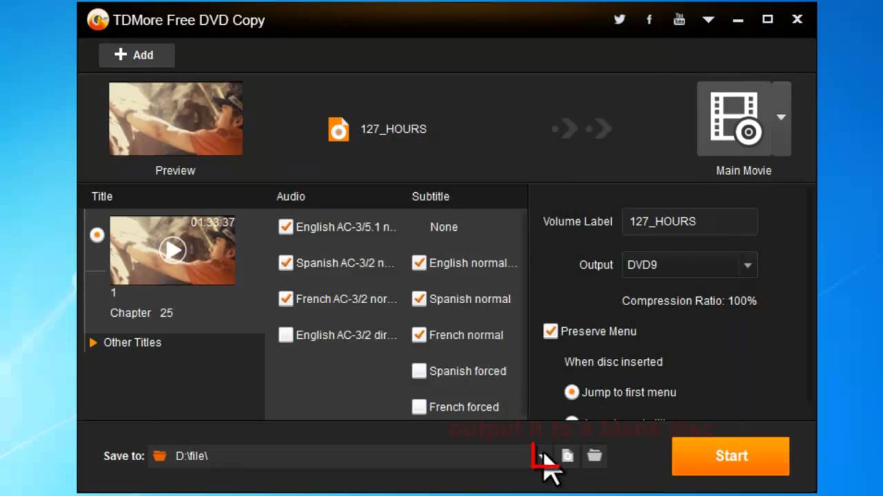 how to copy dvds onto hard drive