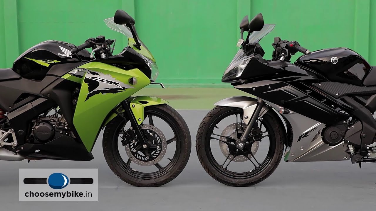 yamaha yzf-r15 vs honda cbr 150r : choosemybike.in review - youtube