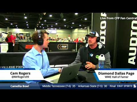 WWE Legend Diamond Dallas Page Joins Cam Rogers College Football Daily - Live From Atlanta!