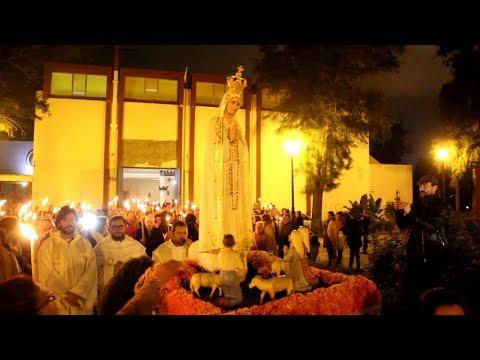 Celebrada la procesión de antorchas de la Virgen de Fátima en San José Artesano