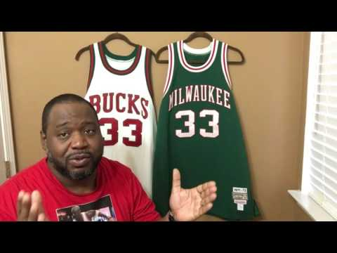4653fea09f6 Kareem Abdul-Jabbar Milwaukee Bucks Mitchell & Ness - YouTube