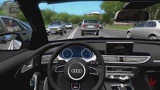 City Car Driving - Audi RS6-R | High Traffic Racing