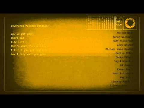 """Portal 2 Credits Song """"Want You Gone"""" With MP3 Download"""