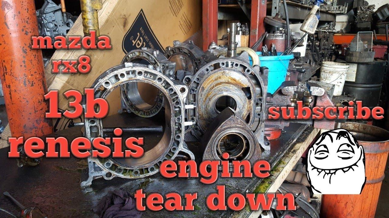 How to rebuild Mazda rx8 rx7: engine tear down