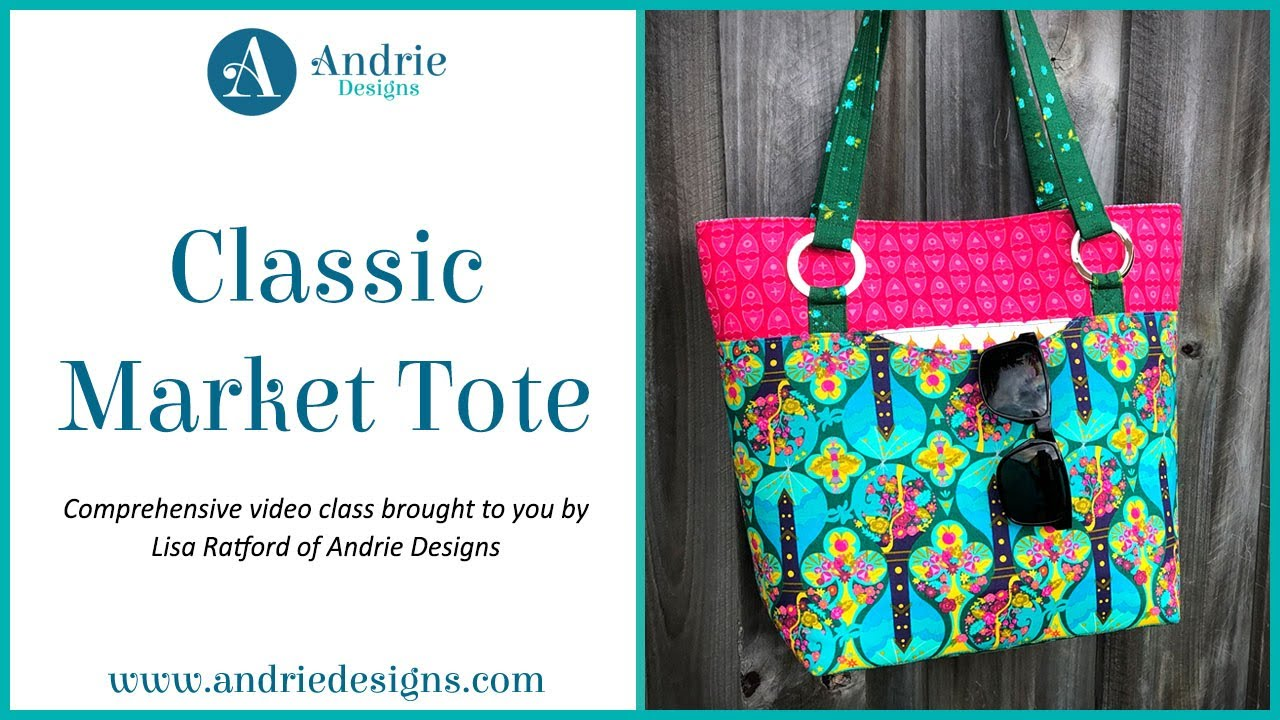 Classic Market Tote pattern by Andrie designs