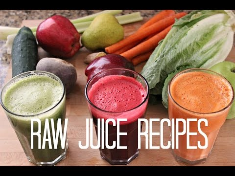 3 Fresh Raw Juice Recipes