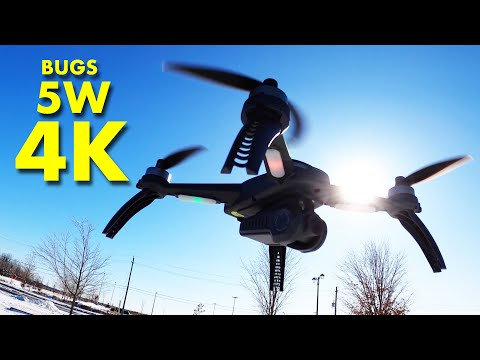 The New Low Cost MJXRC BUGS 5W 4K Camera Drone - Review