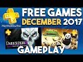 Gameplay from PlayStation Plus FREE Games for December 2017 (PS Plus Games)