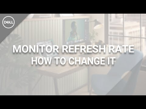 How To Change Monitor Refresh Rate Windows 10 (Official Dell Tech Support)