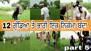 12 ਗੁੰਡਿਆ ਤੇ ਭਾਰੀ ਨਿਕੰਮਾ ਬੰਦਾ ।। punjabi funny video ।। latest Punjabi video ।।